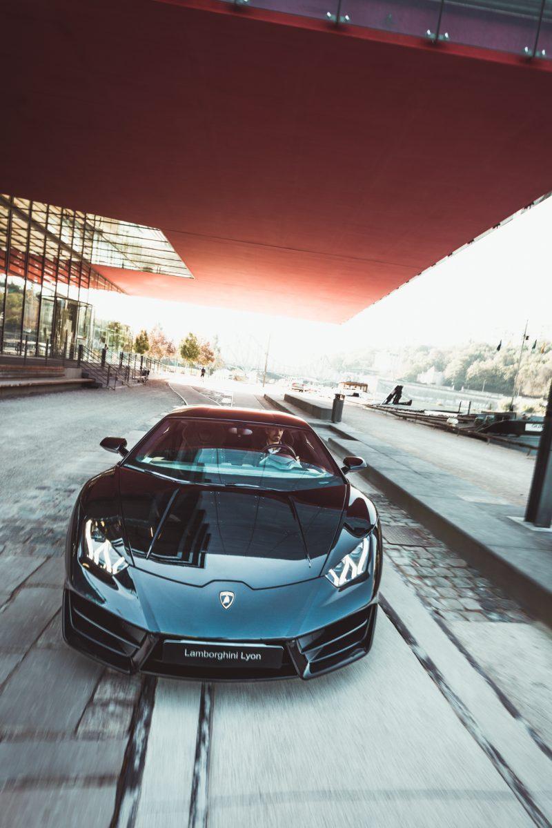 photographie de voiture de sport Lamborghini à lyon